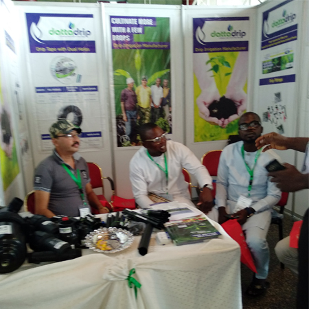 DATTA DRIP TEAM AT NIGERIA EXHIBITION