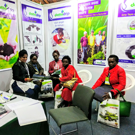 DATTA DRIP TEAM AT UGANDA EXHIBITION